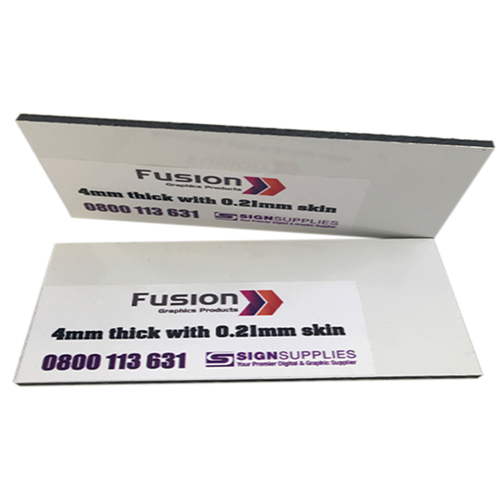 FUSION 421 ACM 4mm PE White Gloss/White Gloss (0.21 skin) 1220mm x 2440mm