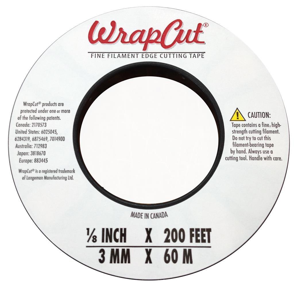 WRAPCUT Fine Filament Edge Cutting Tape 3mm x 60.9m